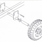 Boat Lift Wheel Mount Kit