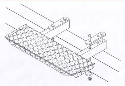 "T-978; ""Trailer step, 6"" x 20"""