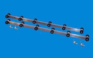 """T-905;1 Pair 5 ft. """"Roller Bunks"""""""