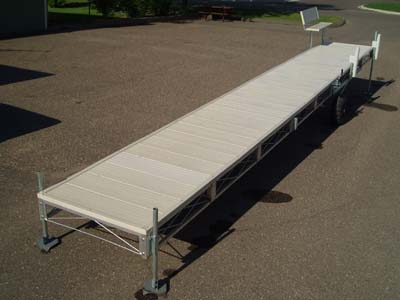Aluminum Roll In Dock Dda 432 32 Ft With Cedar Deck