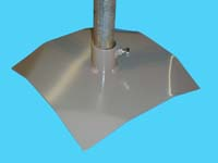 "D-620; 12"" Sq. ""Base Pad"" ( For 1-1/4"" Pipe. ( 1-5/8"" O.D.))."