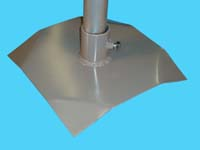 "D-625; 12"" Sq. ""Base Pad"" ( For 1-1/2"" pipe. ( 1-7/8"" O.D. ))."