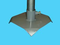 "D-524; 8"" Sq. ""Base Pad"" ( For 1-1/4"" Pipe. ( 1-5/8"" O.D.))."