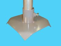 """D-525; 8"""" Sq. """"Base Pad"""" ( For 1-1/2"""" pipe. ( 1-7/8"""" O.D. ))."""
