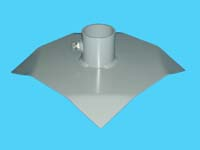 "D-526; 12"" Sq. ""Base Pad"" ( For 2"" pipe. ( 2-3/8"" O.D. ))."