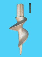 "D-507; ""Sand Auger"" ( For 1-1/2"" Pipe. ( 1-7/8"" O.D.))."