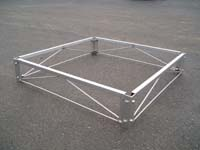 WDA-14-O; 4' x 4' Aluminum Dock Section ( W/O Decking ).