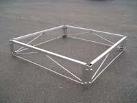 WDA-14-W; 4' x 4' Aluminum Dock Section ( W/ Ceder Decking ).