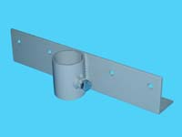 """D-555-L; """"Straight Bracket / Section Connector"""" ( For 1-1/2"""" Pipe. ( 1-7/8"""" O.D.))."""
