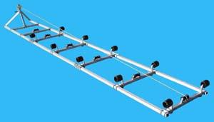 Boat Roller Ramp, DDA-1000; ( 1000 pound capacity, 24 ft. long )