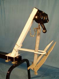 "A-800; ""Winch Stand & Davit"" ""ONLY"" for a pontoon anchor & winch"
