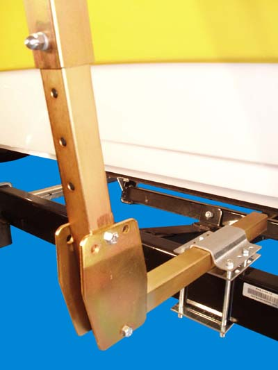 Boat Trailer Roller Guide-Ons, T-930; 3-Way Adjustable, ( Close Up )