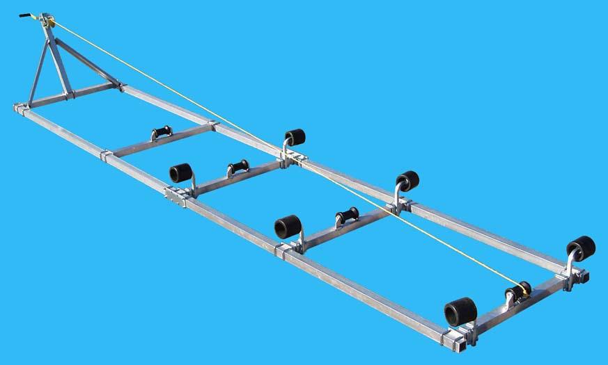 Boat Roller Ramp, DDA-1017; ( 1000 pound capacity, 17 ft. long ), Photo