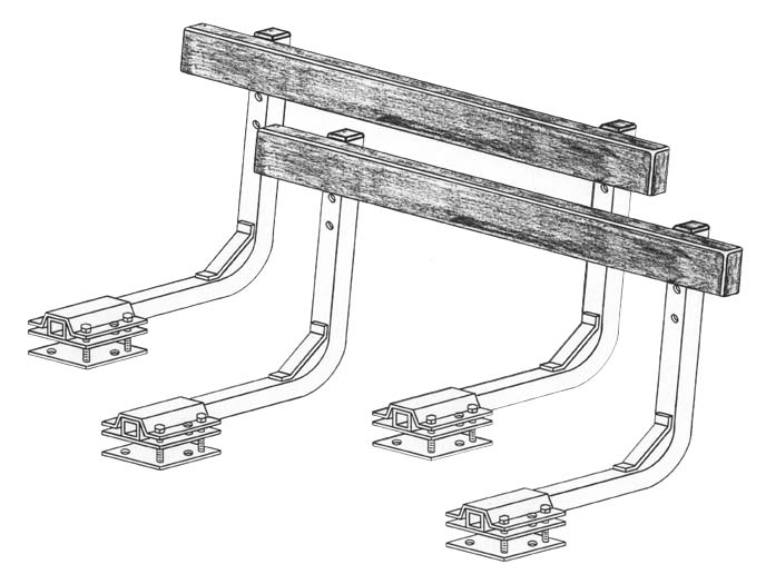 Bunk Guide-Ons, T-956; 5-1/2 ft. long, Drawing