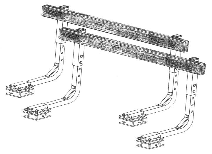 Bunk Guide-Ons, T-976-18; 7-1/2 ft. long (Bunk Guide less wood), Drawing