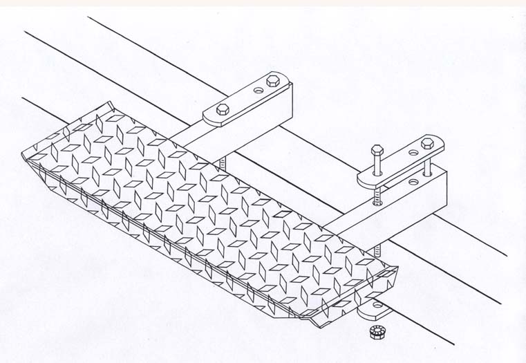 "T-978; ""Trailer step, 6"" x 30"""