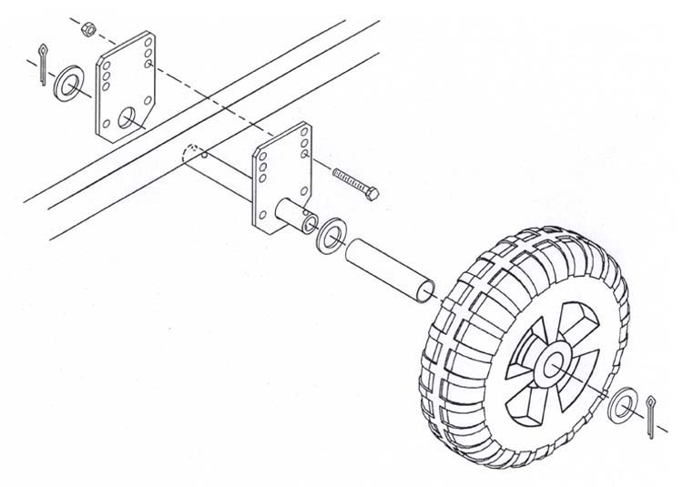 Boat Lift Wheel Mount Kit | Installation Wheels Mt  Kit | VE-VE Inc