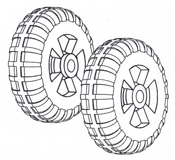 IWP-58; 1 pr. Installation wheels ( Drawing )