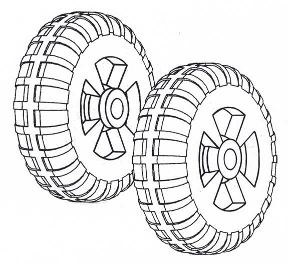 IWP-58; 1 pr. Installation wheels ( Drawing )
