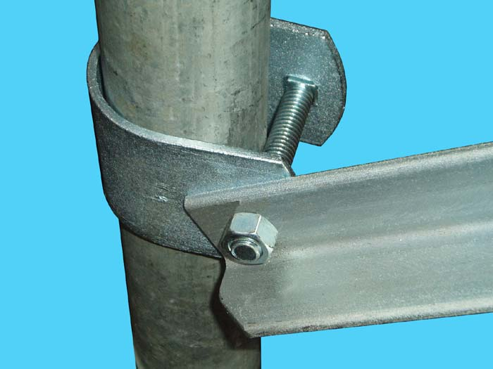 D-635-40; Dock Side Stabilizer, pipe mount close up.