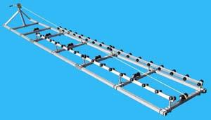 Boat Roller Ramp, DDA-2000; ( 2000 pound capacity, 24 ft. long )
