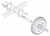 IWP-66; Boat Lift Wheel Mount Kit. ( Kit for 2 wheels )