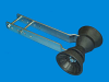 "T-992-16; Bow Stop Roller Assy. (For 3"" wide post)"