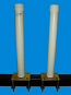 "Post Guide-Ons, T-922; 22"" Tall ( 1 PAIR )"